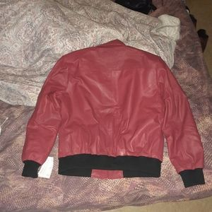 100% Real Leather Bomber